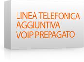 Linea telefonica aggiuntiva per voip prepagato