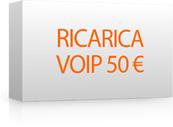 Ricarica 50 per Voip
